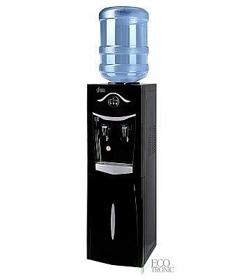 Кулер для воды Ecotronic K21-LCE Black-Silver со шкафчиком