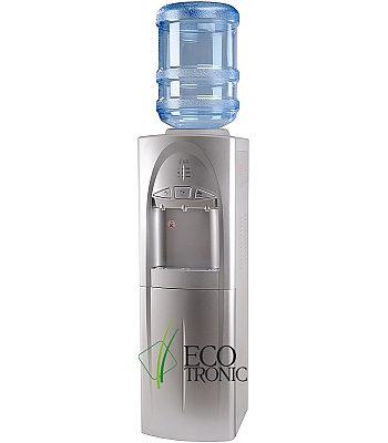 Кулер для воды Ecotronic C4-LCE Silver со шкафчиком